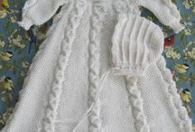 knitting - christening gowns