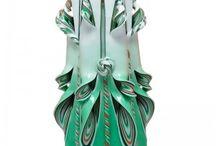 Velas Cortadas a Mano / Velas cortadas a mano, ideales como regalo y decoración.
