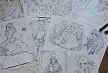 Manga coloring book / adult coloring book, children coloring book, coloring book, my art, oldschool shoujo-manga