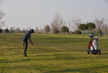 Golf Caorle Italia / Golf place in italy front of sea.