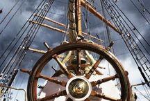 На борту / Штурвалы,якоря,паруса и другое