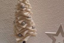 albero di Natale in lana cotta