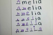 Learning to write name