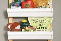 Garage Organization / Tips and tricks to keep your garage and outdoor space organized and de-cluttered.  Reality based ideas to ensure you're an organizing genius!