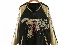 "SUKAJAN JACKETS / Owing it's origins to American soldiers who were in Japan following World War II, souvenir jackets (or Sukajan jackets) were commissioned by occupying American soldiers to commemorate their time overseas. Made with iconic designs, originally from excess parachute silk – the jackets often featured Japanese and American motifs such as dragons and eagles. There was a period that Sukajan was seen as the ""uniform"" of teenage gangsters. Sukajan is transformed into fashion items for vintage lovers."
