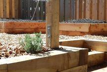 Wood made gardens