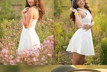 цветочные поле и девушка