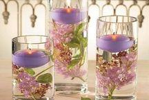 decoração de flores em copos