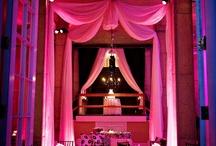 Decor Lighting / Uplighting, gobo, and pinspot lighting inspiration for weddings.