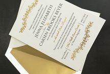 Foil / Foil invitations / announcements gold foil silver foil custom wedding invitations foil