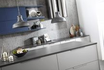 Otto Matt Kitchen / The Otto matt kitchen range offer a contemporary style.  It is available in stock colours of light grey and porcelain or 30 painted colours.  Also avialable is the Otto in true handleless design offering the very latest styling