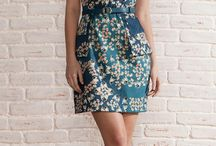 vestido de sarja