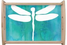 Turquoise Serving Trays