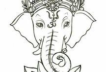 Татуировки мехенди слон эскиз хна мехендиспб питер