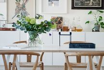 Dining room inspiration / Beautiful dining spaces