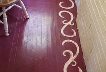 Painted Hardwood Floors