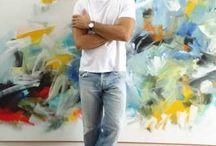 Artista Plástico Mano Alencar / Pinturas Acrílicas Sobre Telas, Papel e Esculturas