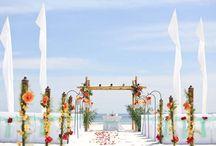 Big Day Weddings Feather Decorations / Big Day Weddings, Alabama Beach Weddings, Gulf Shores Alabama, Orange Beach Alabama, Beach Weddings, Beach Wedding Decorations, Wedding Decorations