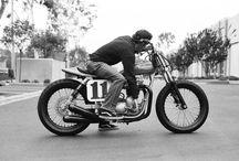 Men in motorcycles