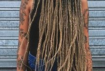 Ombré box braids