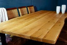 Contemporary Solid Oak Tables / Contemporary hand made solid oak dining tables.