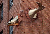 Pesce a parete