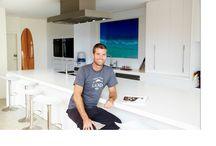MKR Celebrity Chef Pete Evans- Corian Benchtop / Pete Evans with his Corian Kitchen Benchtop.