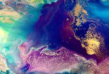 Color resin art