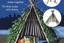 gapahuk og forskjellige måter å lage soveplass på