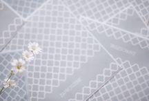 zaproszenie // chrzest / // invitation // baptism // design // minimalism // blue // white // flowers // spring //