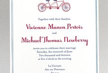 Unique Bicycle Wedding Invitations