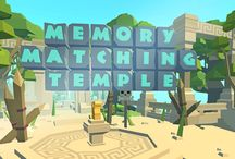 Memory Matching Temple / Matching games are games that require players to match similar elements. As the name implies, participants need to find a match for a word, picture, or card.