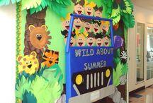 Jungle Themed Preschool Room