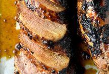 Hone glazed tender pork loin