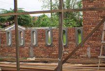 Rumah batu bata di desa