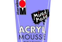 Acryl Mousse / Soft water-based acrylic paste with a fluffy, chalky appearance. Suitable for canvas, wood, MDF, paper, metal etc.