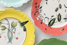 plates, trays and platters / These are my favorite things to collect. Oh and pie plates with the recipes on them.  / by Tiffany Colson