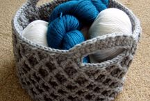 crochet baskets and containers