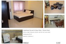 Apartment for rent in Daun Penh / Balcony, bright, living room, kitchen, near Mini mart, near market