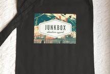 Bags / Handprinted totes, rucksacks & messenger bags by Junkbox