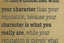 What I am / Character