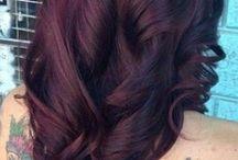 Волосы цвета черной вишни