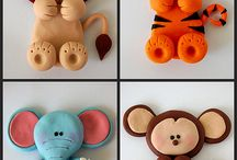 GUMPASTE JUNGLE CIRCUS ANIMALS / by Bonnie Merchant