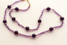 Amethyst / A peek at the amethyst jewelry made in the studio here at the gallery.