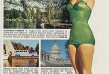 Vintage Travel Advertisements / Bus, Airline, Train,& Hotel Ads