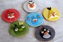 Galletas y cupcakes angrybirds