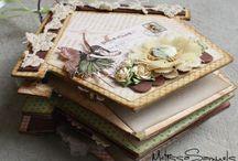 Scrap Books / Ideias e tutoriais em álbuns, livros, cadernos, blocos, agendas, pastas, arquivos e outros.