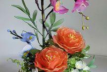 Kwiaty na druciku