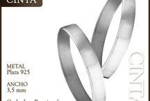 Alianzas de Plata / Alianzas de boda o compromiso en plata.