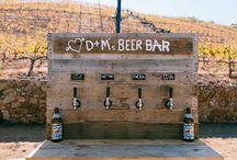 Beer Bar Ideas / Because Beer is food too. ; )
